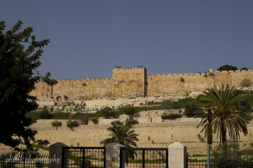 The Eastern Gate, blocked in by Muslim conquerors because the Jews believed it was the gate through which the Messiah would enter the city